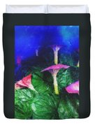 Fantasy Flowers Pastel Chalk 2 Duvet Cover