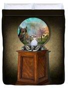 Fantasy Globe 2 Duvet Cover
