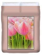 Fantasy In Pink - Tulips Duvet Cover