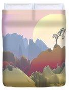 Fantasy Mountain Duvet Cover