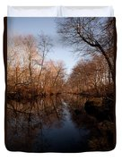 Far Mill River Reflects Duvet Cover