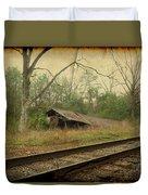 Far Side Of The Tracks Duvet Cover