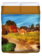 Farm - Barn -  A Walk In The Country Duvet Cover