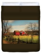Farm - Barn - Just Up The Path Duvet Cover
