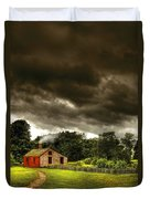 Farm - Barn - Storms A Comin Duvet Cover