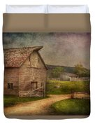 Farm - Barn - The Old Gray Barn  Duvet Cover