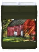 Farm - Barn - The Old Red Barn Duvet Cover