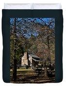 Farm Cabin Cades Cove Tennessee Duvet Cover