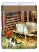 Farm Cat Duvet Cover