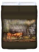 Farm - Cow - A Couple Of Cows Duvet Cover
