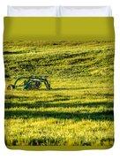 Farm Equipment In A Field Duvet Cover