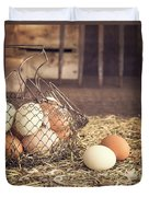 Farm Fresh Eggs Duvet Cover