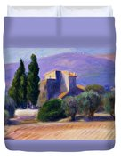 Farm House In Provence Duvet Cover
