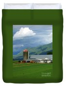 Farm In The Valley Duvet Cover