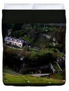 Farm Land In The Peak District In Great Britain Duvet Cover