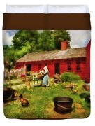 Farm - Laundry - Old School Laundry Duvet Cover by Mike Savad
