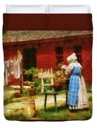 Farm - Laundry - Washing Clothes Duvet Cover