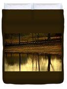 Farm Pond Reflections Duvet Cover