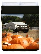 Farm Stand Pumpkins Duvet Cover by Barbara McDevitt