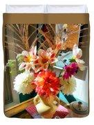 Farm Table Bouquet Duvet Cover