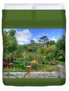 Farmer Maggot Garden Duvet Cover