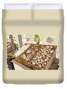 Farmers Market Mushrooms Duvet Cover
