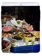 Farmers Market Segovia Duvet Cover
