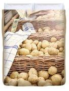 Farmers Potatoes Duvet Cover
