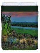 Farm Sunset Duvet Cover