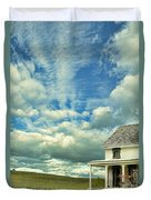 Farmhouse By Cornfield Duvet Cover