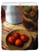 Farmhouse Fruit And Flowers Duvet Cover