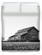 farmhouse in spring - Old Barns Duvet Cover