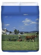 Farming The Old Order Way Duvet Cover