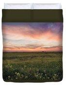 Farmland Sunset 1 Duvet Cover