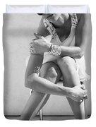 Fashion Instinct Bw Palm Springs Duvet Cover by William Dey