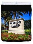Fashion Island Sign In Newport Beach California Duvet Cover