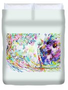 Fashion Lady And Death Under A Tree Duvet Cover