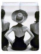 Fashion Models In Swim Suits, 1950 Duvet Cover