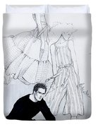 Fashion On A Hill Duvet Cover by Sarah Parks