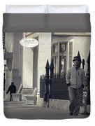 Fashion On The Street Duvet Cover by Dan Sproul