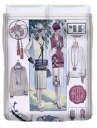 Fashion Plate, From La Femme Chic Duvet Cover