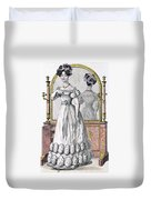 Fashion Plate Of A Lady In Evening Duvet Cover