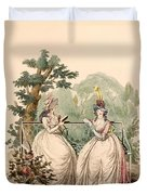 Fashion Plate Of Ladies In Summer Day Duvet Cover