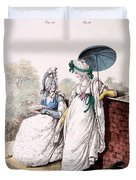 Fashion Plate Of Ladies Morning Dress Duvet Cover