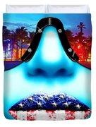 Fashionista Miami Blue Duvet Cover