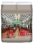 Fast Food Hall In Valladolid Duvet Cover