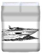 Fast Riva Motoryacht Duvet Cover