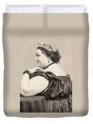 Fat Lady, 19th Century Duvet Cover