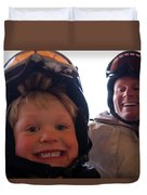 Father And Son At Big Mountain Duvet Cover
