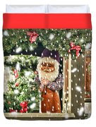Father Christmas In The Snow Duvet Cover